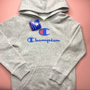 Grey Gray Champion Pullover Hoodie